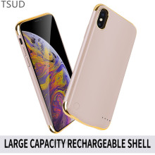 5500mah external portable wireless charger case for iphone x xs ultra thin battery charging cover luxury
