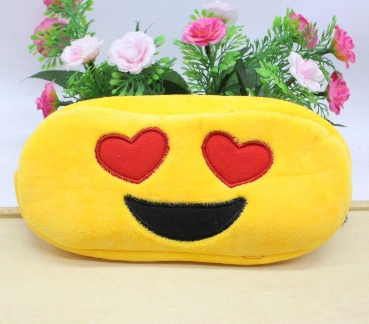 Kawaii Cartoon Pen case Totoro plush Smile Face Emoji Cute Pencil case School Minecraft etui trousse scolaire stylo 04819 19