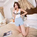 2016 New Fashion Style Jeans Side Zipper Short Women Clothing Women Sexy High Waist Shorts B813