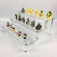 Acrylic three-tier display rack , transparent cosmetics display stand,shelves wallet shoes stand Display