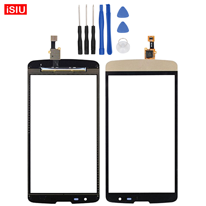 Black / White / Gold New 5.0 inch For LG L Bello D331 / D335 / D337 LCD Touch Screen Lens Glass Outer Front Panel + Tools