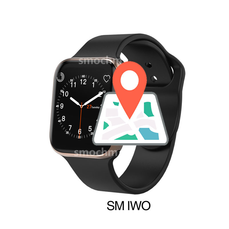 SM IWO 10 Smart Watch Bluetooth 1:1 Series 4 Wireless Charger GPS Sports For Apple Watch iPhone Android Updated IWO9 IWO8 plus