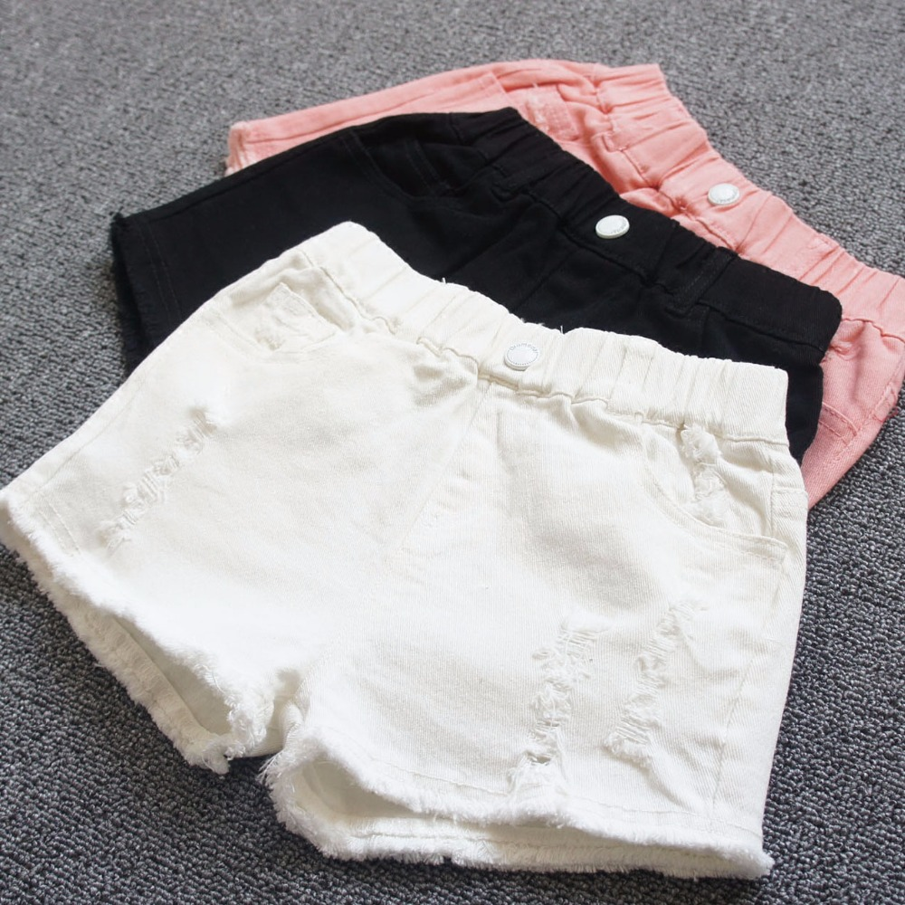 Baby girls shorts jeans Hot design summer cotton children's shorts kids denim shorts for girls clothes 2-16 years girl clothing retro design summer men jeans shorts summer style black color destroyed ripped jeans men shorts white wash stretch denim shorts