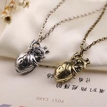 Anatomical Anatomy Heart Necklace Cardiac Atrium Love Bronze Silver Color Pendant Vintage Medical Biology Jewelry Men Wholesale