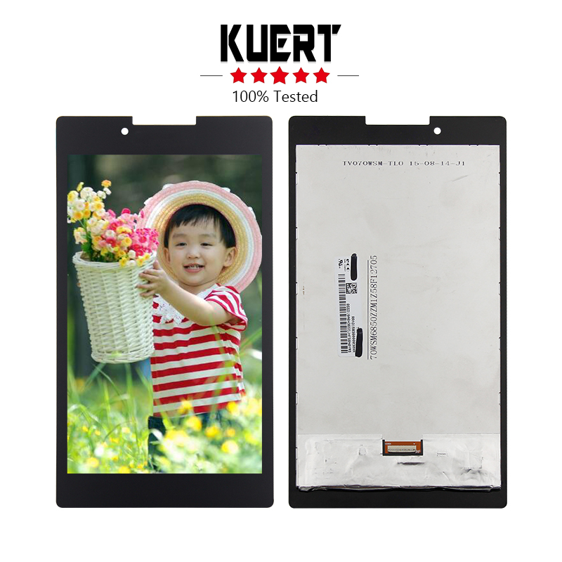 Free Shipping For Lenovo Tab 2 A7-30 A7-30HC Touch Screen Digitizer Glass Lcd Display assembly A7-30 LCD + Tools black color free tempered glass lcd display touch screen digitizer home button front camera assembly for iphone 6s 4 7 inch