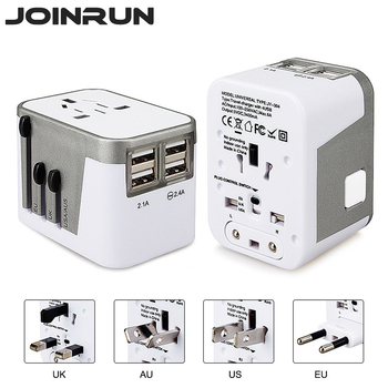 Universal Travel Plug 4 USB LED Power Indicator
