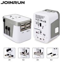 Joinrun Universal Travel Adapter Electric Plugs Sockets Converter US AU UK EU With 4 USB Charging