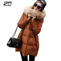 Fitaylor 2017 Plus Size 4xl Big Fur Collar Hooded Parka Mujer Winter Warm Jacket Women Thick