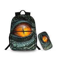 Jurassic monster World Park Backpack with Zipper Pencil case Dinosaur pattern knapsack Schoolbag Toys Gift For Children
