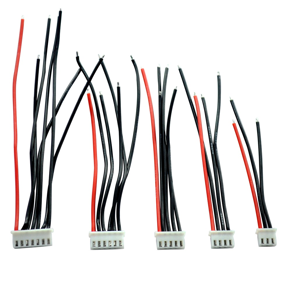 5pcs/lot 2S 3S 4S 5S 6S Balancing Changer Wire Charger Silicon Cable JST-XH JST XH Connector Adapter Plug 22AWG 100mm for Lipo5pcs/lot 2S 3S 4S 5S 6S Balancing Changer Wire Charger Silicon Cable JST-XH JST XH Connector Adapter Plug 22AWG 100mm for Lipo