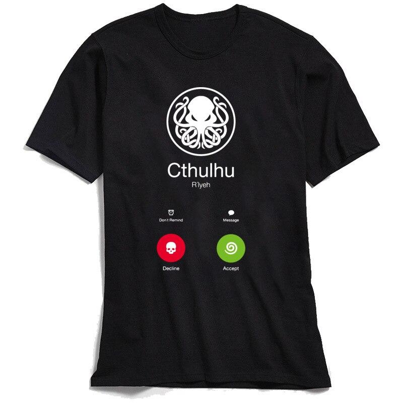 CALL OF CTHULHU T-shirt Novelty Designer T Shirt For Men 100% Cotton Tshirt Funny Summer Geek Tops Swag Steampunk Octopus Tees