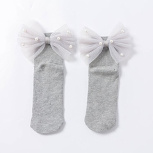 New Baby Girls Socks With Bows Toddlers Infants Cotton Ankle Socks Beading Baby Girls Princess Sock Cute Children Socks infant-in Socks