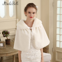 Modabelle Winter Wedding Fur Wrap Bolero Novia Ivory Red Faux Fur Shrug Women Accessoires Wedding Party