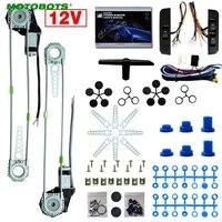 MOTOBOTS 1Set Car Auto Universal 3pcs/Set Switches and Harness + 2 Doors Electric Power Window Kits