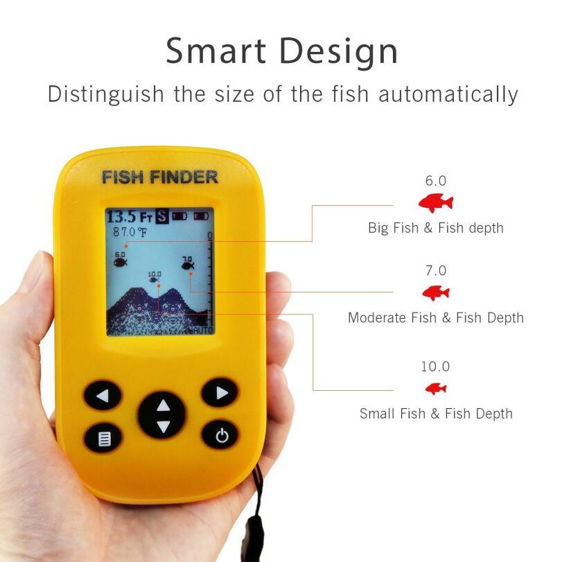 Sondeur écho capteur Sonar sans fil sondeurs pour bateaux Humminbird transducteur LCD profondeur d'eau, sondeur de température