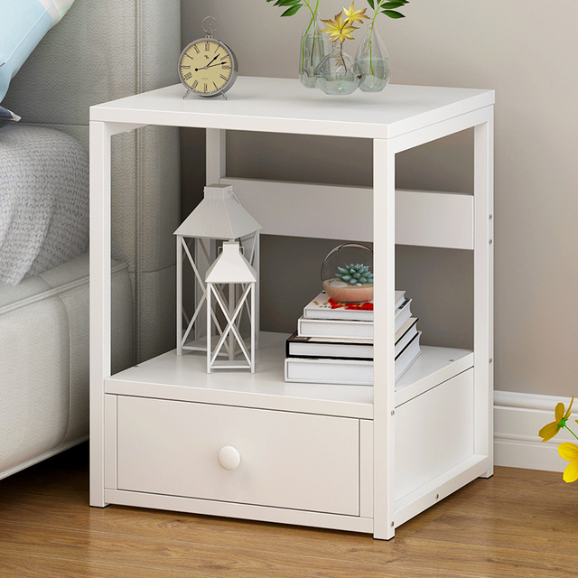 Nightstand Luxury Style Night Stand Storage Bedside Table With 2 Drawer End For