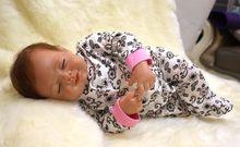 18 inch 46 cm Silicone baby reborn dolls, doll Lifelike reborn doll Linda Pentacle blue leotard