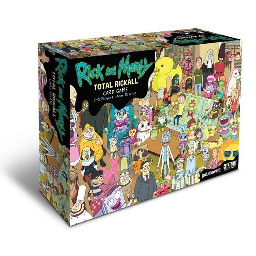 Rick e Morty Coleção de Cartões de Jogo Jogo de Cartão Jogo Total Rickall Rick Morty Y Yuego Para Se Divertir Com Caixa