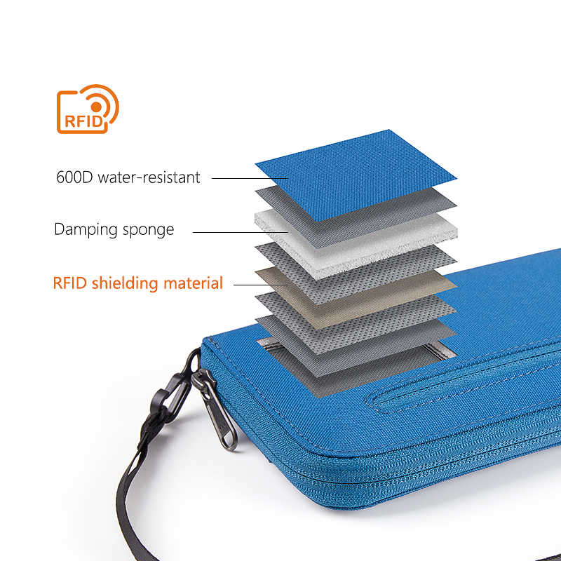 98c255706ea0 Naturehike RFID Travel Wallet Ultralight Portable Travel Bag Waterproof For  Documents Credit Cards Multi Functional NH18X020-B