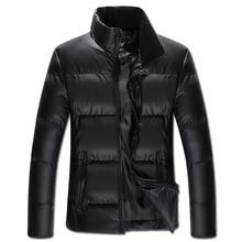 New 2016 Autumn Winter Jacket Men Warm Down Jacket Men Outerwear Zippers Down Cotton Solid Coat  KL014