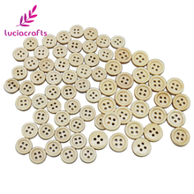 Lucia crafts 24 шт./лот 12 мм/13 мм/15 мм с 4 отверстиями натуральный круглый Woodden snap кнопки Швейные DIY украшения для одежды, аксессуары E0118