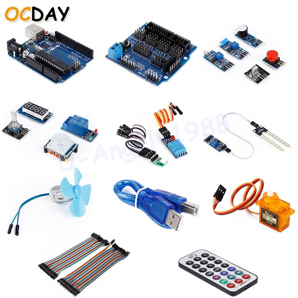 цена на 1pc OCDAY 20 in 1 Ultimate Smart Home Robot Electronic Starter Kit for Beginners