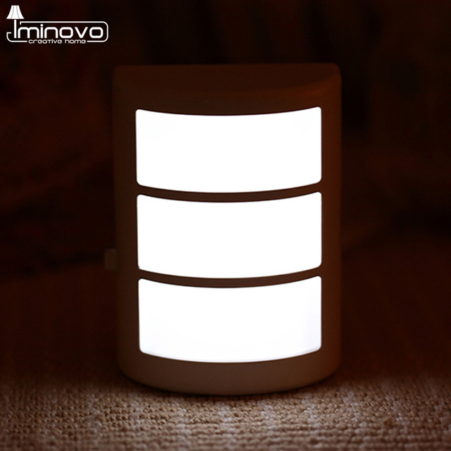 IMINOVO Led Nachtlicht Lampe Flur Beleuchtung PIR Bewegungssensor Mini Wandleuchte Fr Wohnzimmer Schrank Treppenhuser Garage