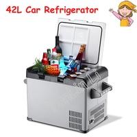 42L Car/Household Refrigerator Portable Mini Fridge Compressor Freezer Cooler Box Insulin Ice Chamber Depth Refrigeration BCD 42