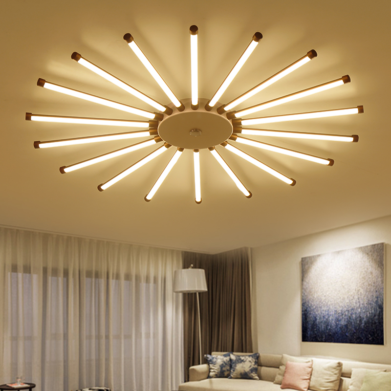 Acrylic Aluminum Modern Led Ceiling Lights For living Room Bedroom New White Modern Warm White Ceiling Lamp Fixtures