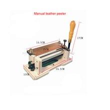 1 adet Koştu Üst Moda Elle Deri Skiving Makinesi/endüstriyel Ağır Dikiş Makinesi Soyma