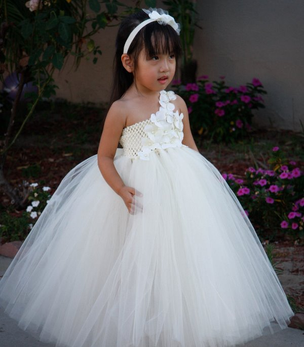 tutu dress christmas girl dress-  fluffy girl dress blush pink flower girl dress birthday girl dress -pageant dress tulle girl dress