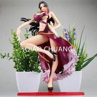일본 만화 원피스 해적 여성 황제 보아 핸콕 섹시한 보라색 수영복 PVC 액션 피규어 소장 모델 장난감 G202