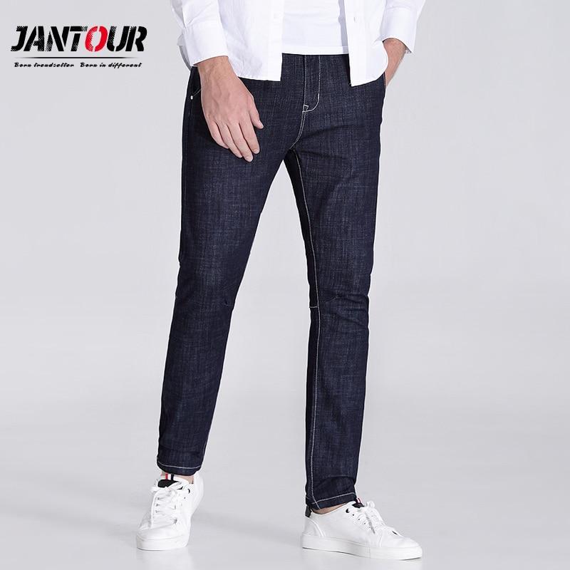 Jantour 2018 haute qualité Bleu et noir skinny jeans hommes Slim Casual Denim jean mans pantalon hombre mode robin Pantalon mâle