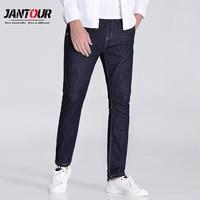 jantour 2018 high quality Blue and black skinny jeans men Slim Casual Denim jean mans pantalon hombre fashion robin Pants male