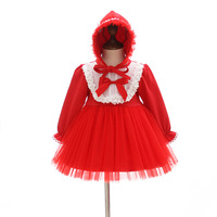IYEAL Newest Winter Christmas Newborn Baby Girl Dress With Hat 1 Years Birthday Infant Vestido Toddler Party Princess Dresses