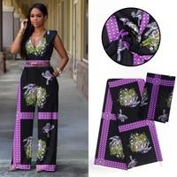 New 100% Modal Wax Prints Fabric 2019 Ankara Silk Satin Fabric Wax High Quality 4+2 yards African Fabric for Party Dress 904