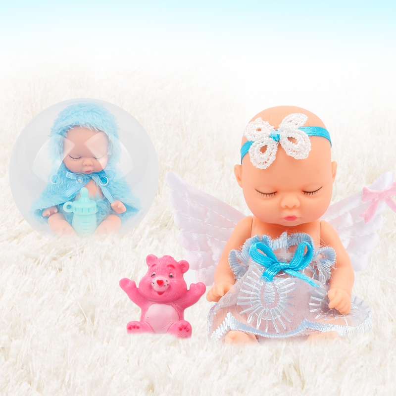 New Angel Doll Ball Girl Beautiful Cute Open Egg Toy Birthday Present Mini Baby Action Figure Toys for Kids rotate baby born 1