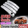 Voiture Poignée De Porte Chromée pour Chevrolet Sonic Aveo T300 Holden Barina 2012 2013 2014 2015 2016 2017 2018 2019 Accessoires Autocollants De Voiture    -
