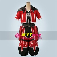 Game Movie Anime Kingdom Heart Sora Cosplay Costum Red Fighting Full Set Any Size NEW