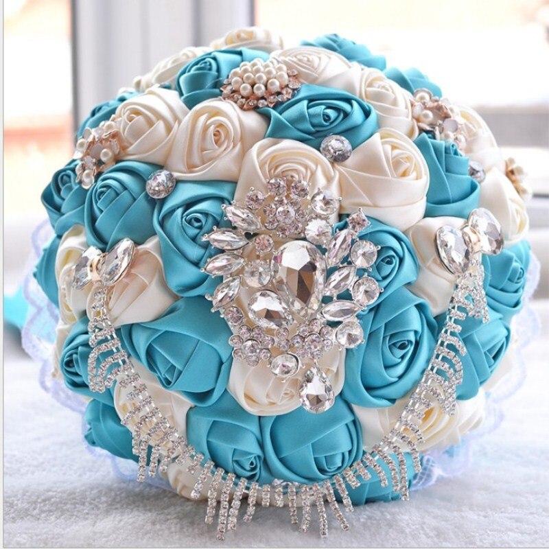 Ruban de Satin personnalisé à la main mariage mariée détient fleur cadeaux de noël en gros livraison gratuite - 6