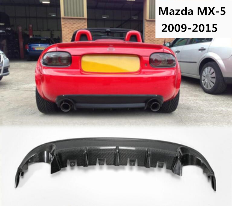 Carbon Fiber / ABS For Car Rear Bumper Spoiler Lip, Auto Car Rear Bumper Diffuser Cover For Mzada MX-5 MX-5 NC 2009-2015Carbon Fiber / ABS For Car Rear Bumper Spoiler Lip, Auto Car Rear Bumper Diffuser Cover For Mzada MX-5 MX-5 NC 2009-2015