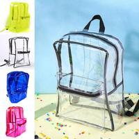 Стильный Водонепроницаемый прозрачный молнии рюкзак школьные сумки для девочек-подростков мальчиков большой Ёмкость Путешествия Bagpack Рюк...
