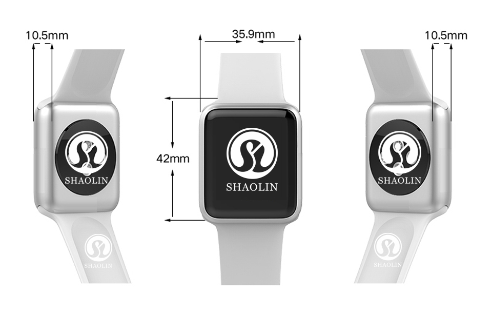 SHAOLIN Bluetooth Smart Watch Heart Rate Monitor Smartwatch Wearable Devices for iPhone IOS and Android Smartphones apple watch-27