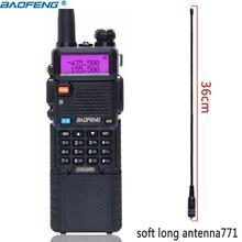 BaoFeng UV 5R 5W 3800mAh Bateria Li ion de longa Dual Band 136 174 & 400 520MHz Ham CB Rádio em Dois Sentidos Walkie Talkie Transmissor UV5R