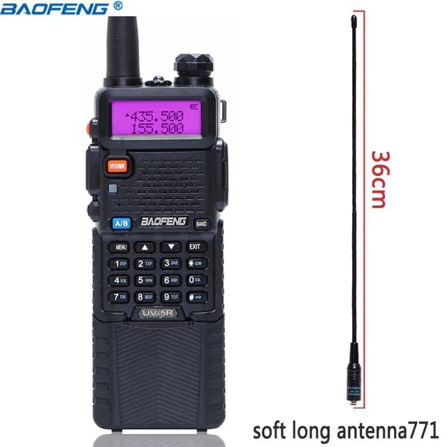 BaoFeng UV 5R 5W 3800mAh ארוך ליתיום סוללה Dual Band 136 174 & 400 520MHz חם CB שתי דרך רדיו ווקי טוקי משדר UV5R