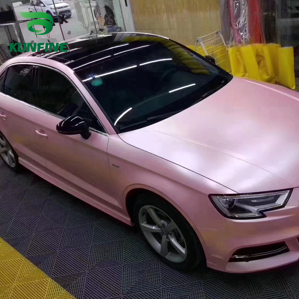Iveta Sunshaded us $186.3 19% off|car styling wrap electro optic cherry blossom pink car  vinyl film body sticker car sticker air free bubble for motorcycle car-in  car