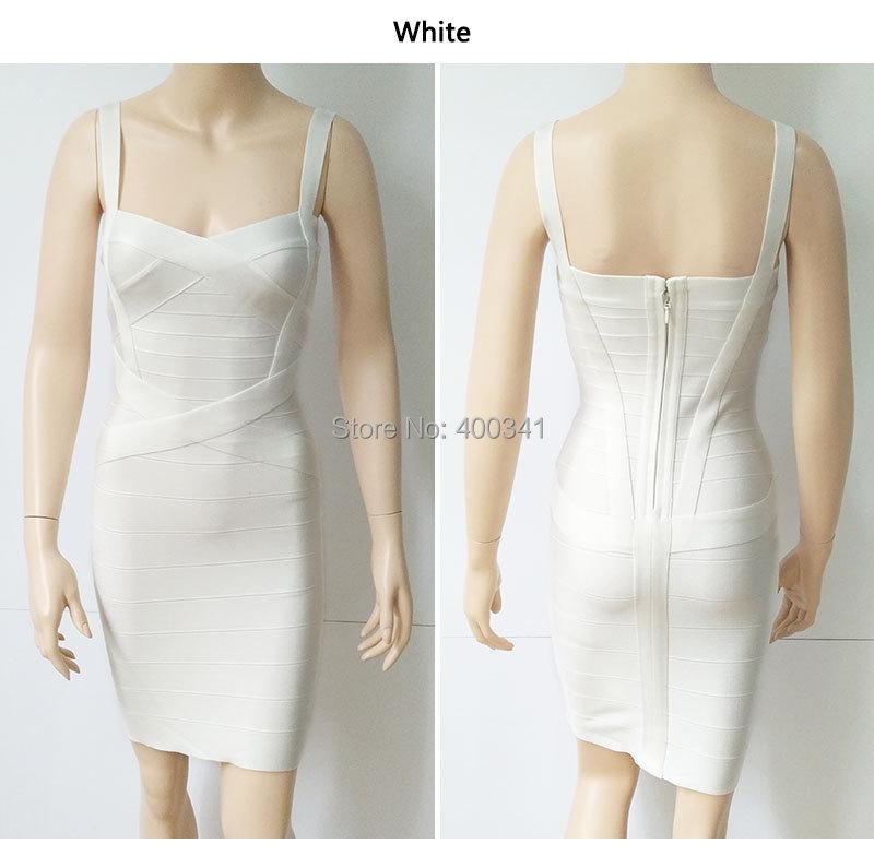 17 New Women Sexy Spaghetti Strap Rayon HL Elastic Celebrity Bandage Dress Bodycon Mini Club Party Dresses Drop Ship HL8675 29