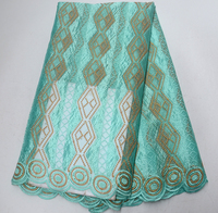 Best Selling African Lace Fabric 2018 High Quality French Lace Fabric Alibaba Express Nigerian Lace Fabrics Turquoise Color