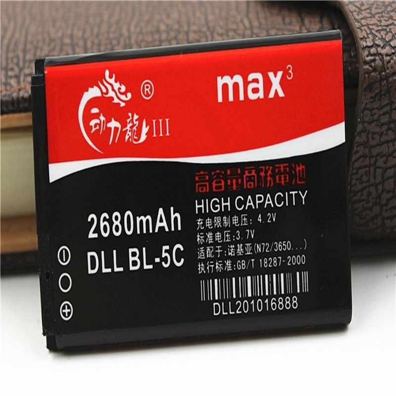 NOVA DLL 2680 mAh BL-5C Bateria para Nokia C2-01 C2-02 C2-03 C2-06 X2-01 5130 XpressMusic 6230i 1108 1110 1112 1116 1200 1208 1209