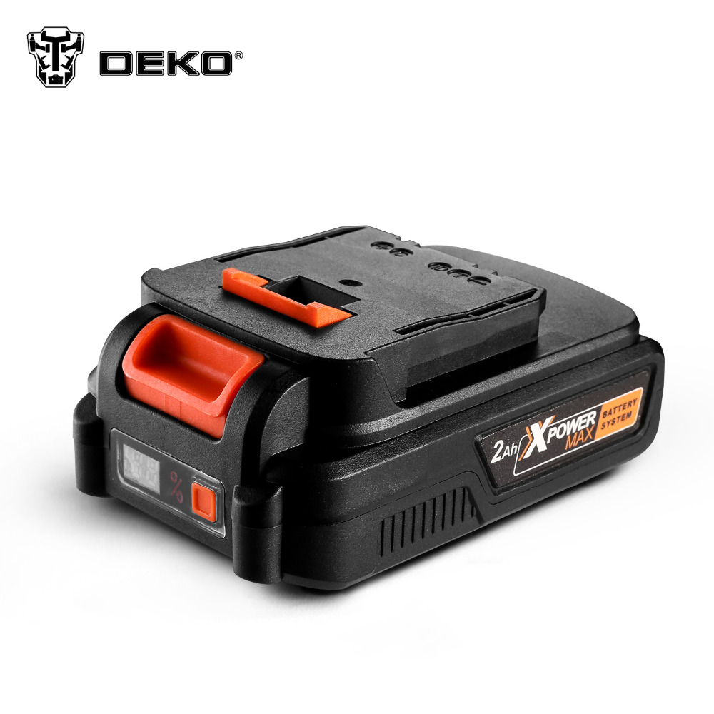 DEKO 20V MAX 2000 4000mAh Lithium Ion Battery Pack for GBD20DU2 GBD20DU3 GBW20DU2 Cordless Drill Wrench
